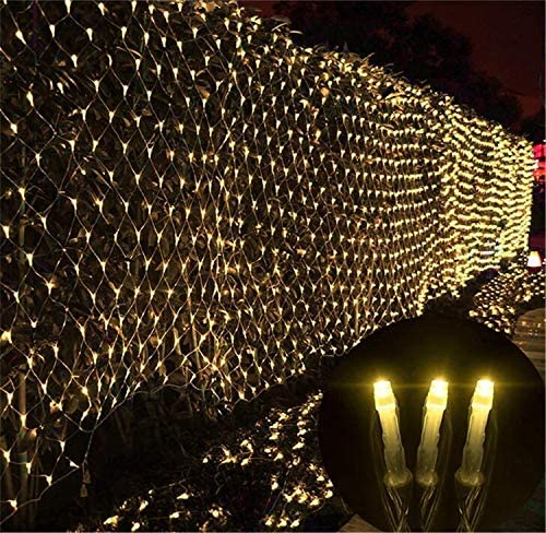 BABIFIS Net Light, Led, tamaños múltiples, medidores Luces de Red Luces Decorativas para Exteriores Luces pequeñas, Blanco cálido