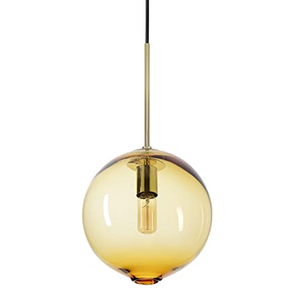 CASAMOTION Lámpara de techo colgante de cristal soplado a ...