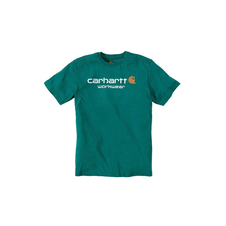 Moss Heather Chest 30-32 Carhartt Core Logo T-Shirt 76-81cm XS