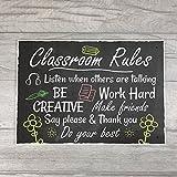 XLD Store Classroom Rules Plaque Best Teacher School Nursery Sign Leaving Gift