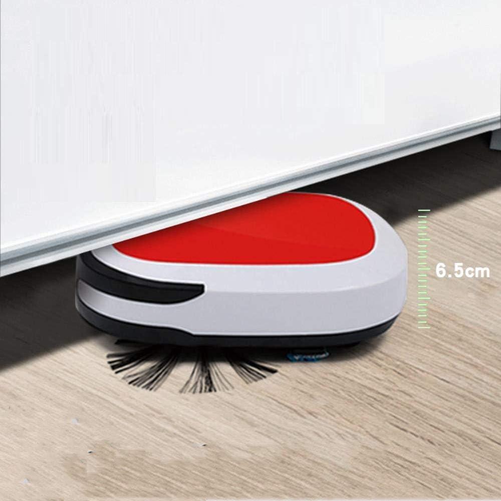 Entièrement robot automatique de balayage, ménage charge intelligente balayage robot, balayant et en faisant glisser trois dans une ggsm (Color : White) White