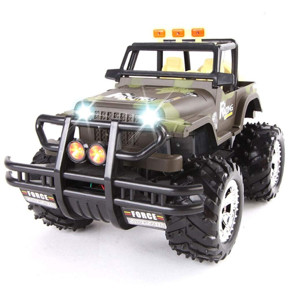 Luccky Camouflage RC Cars Off -Road Metal Shell Vehicles 2.4Ghz Radio Controlled Trucks Remote Control Rock Crawler High Speed Toy Racer SUV modello auto Amphious Waterproy Stunt Remote Vehicle