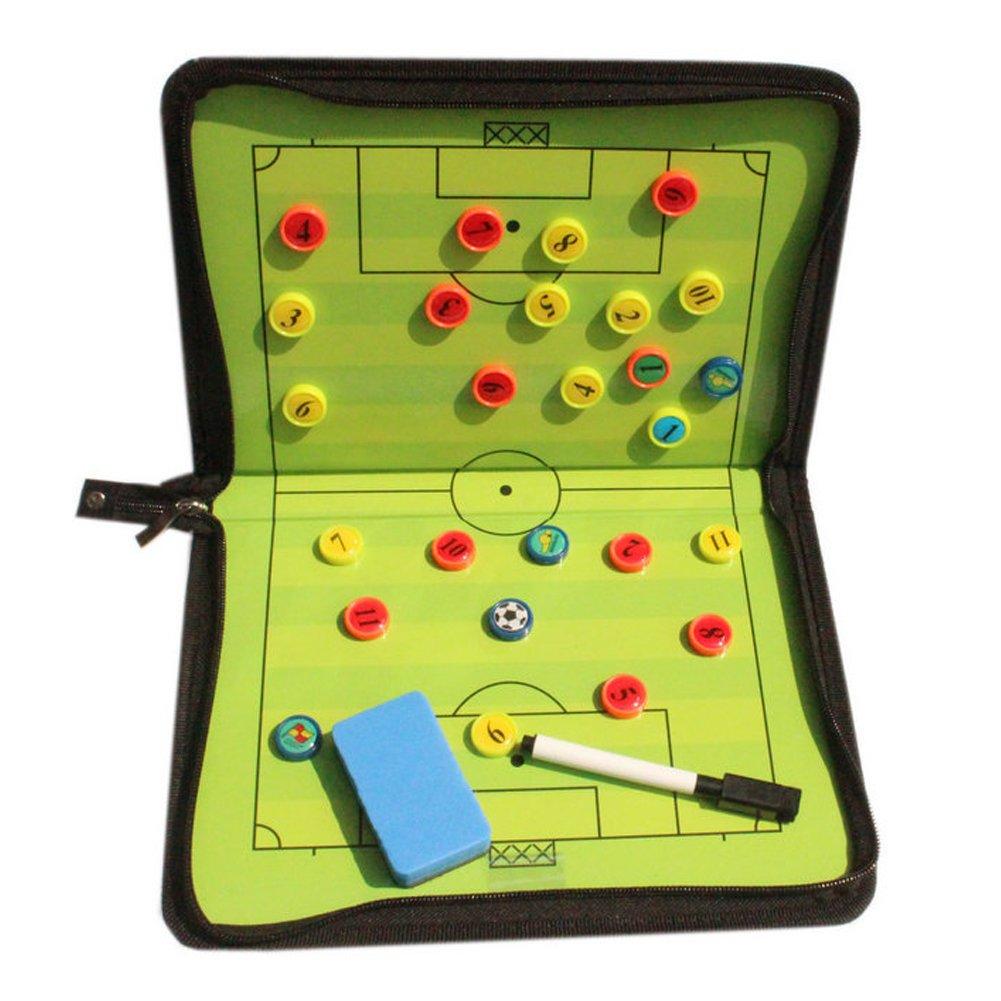 Abree Maletín Táctico para Entrenador de Fútbol Tablero Magnético Plegable de Fútbol para Fútbol Equipo de Entrenadores para Entrenamiento Estratégico