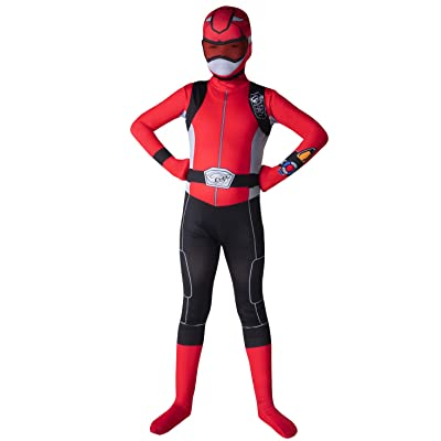 Morphsuits Official Kids Red Power Rangers Costume - Medium (Age 8-10): Toys & Games
