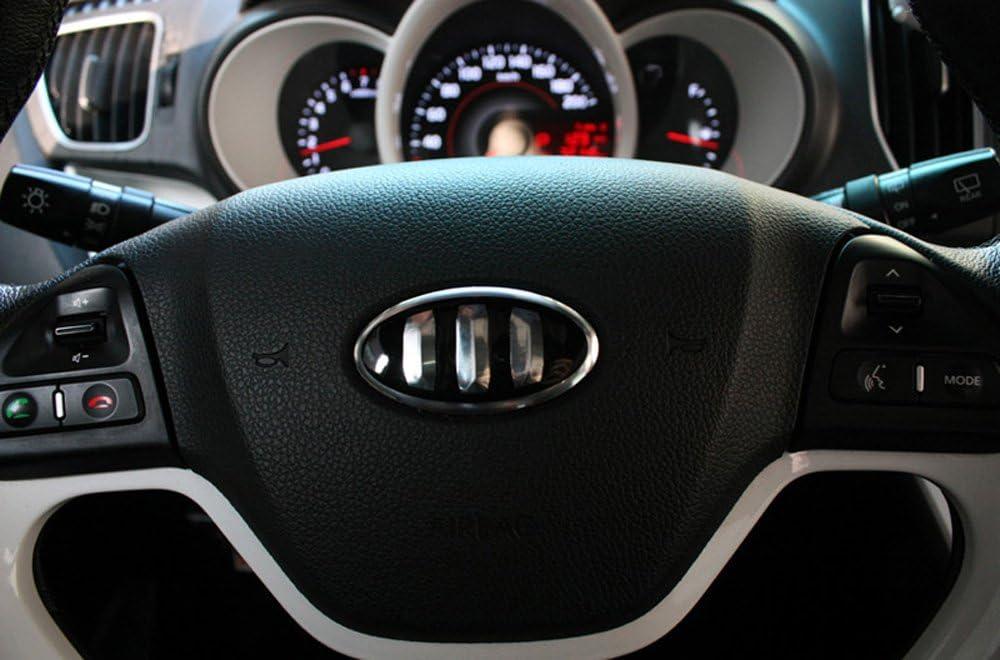 Rear Fit: KIA Hyundai Tucson IX , IX35 Steering Wheel 3D Tauro Carbon Fiber Emblem Set 3pc Front