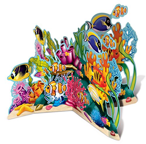 Beistle 50272 3-D Coral Reef Stand-Up, 26