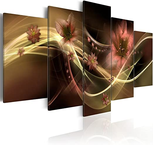 Painting Canvas Print Picture Poster Brown Wall Art Home Decor Abstract Framed