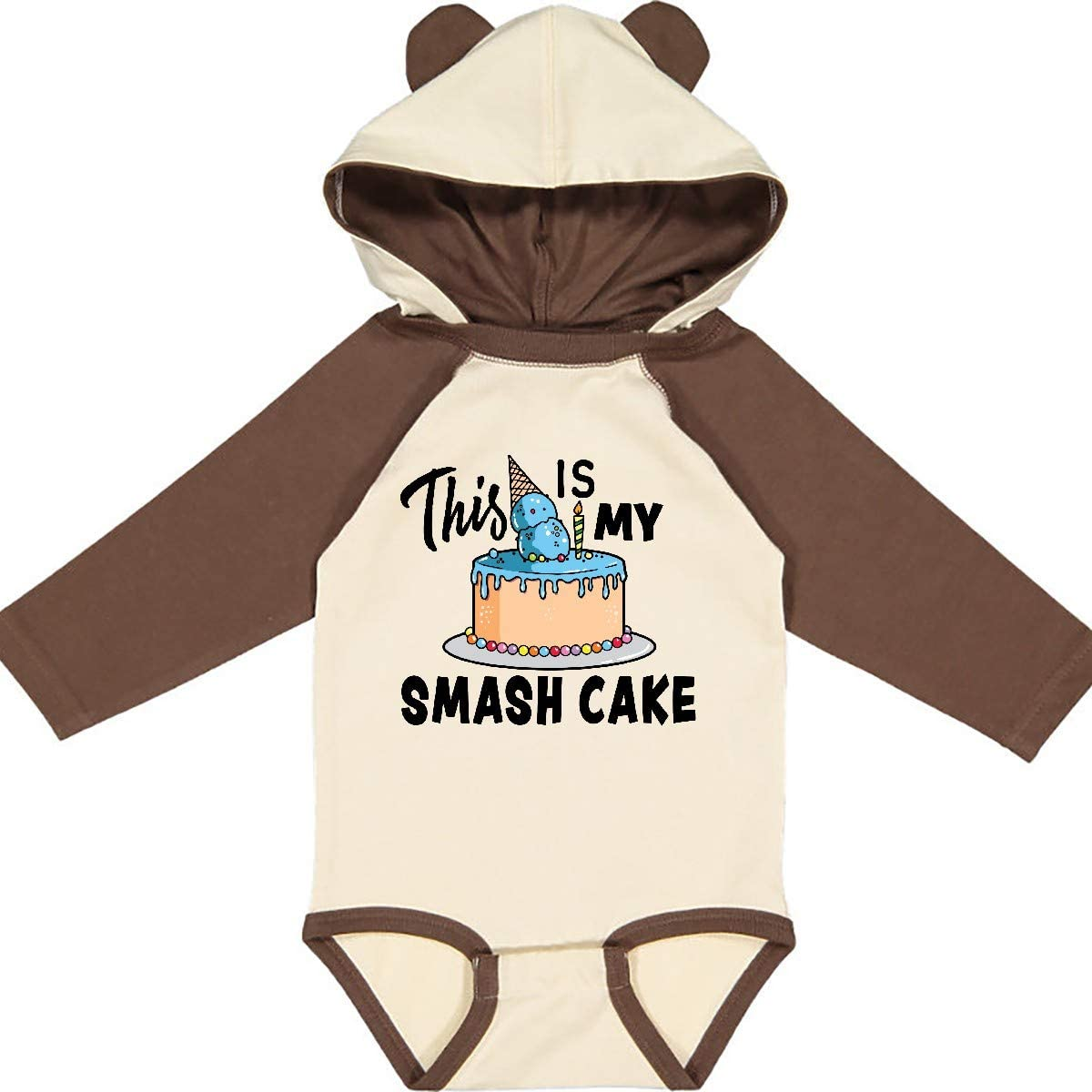 inktastic This is My Smash Cake Long Sleeve Creeper