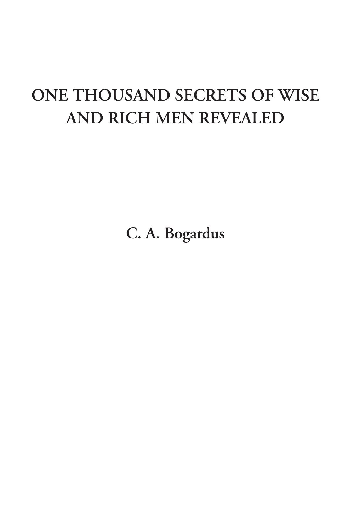 Download One Thousand Secrets of Wise and Rich Men Revealed PDF