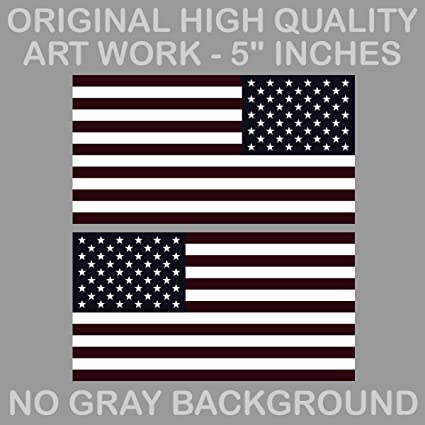 aa6e57ca8fa Image Unavailable. Image not available for. Color  OwnTheAvenue X2 4 quot   Subdued Black American Flag Sticker for Jeep Die Cut Decal USA Lh