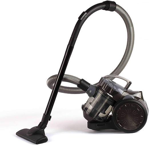 Aspirador ciclónico sin bolsa, aspirador de suelo, color gris (sin ...