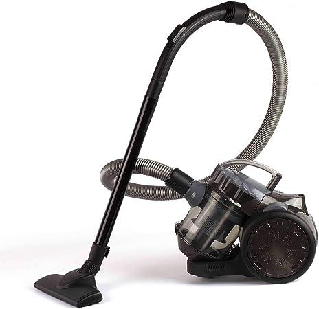 Aspirador ciclónico sin bolsa, aspirador de suelo, color gris (sin bolsa, depósito de polvo de 2 litros, asa, radio de 6 m): Amazon.es: Hogar