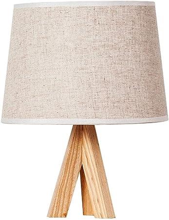 Jixi Lampe de Table Lampe de Table de Chevet en Bois Massif