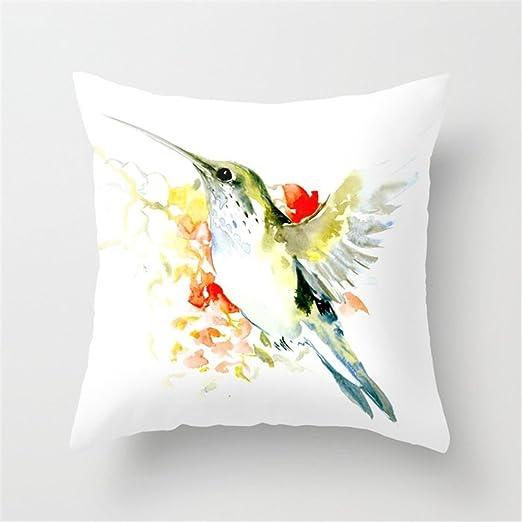 Cuitae Hummingbird Funda de Cojín Manta Funda de Almohada ...