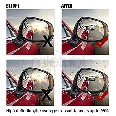 HiYi HD Waterproof 2PCS Anti-fog Car Rearview Mirror Film,Soft Protective Film Universal Bus Screen Protector,Anti Fog,Anti-glare,Anti-scratch,Rainproof,RearView Mirror WindowClear Nano Film Round10cm: Automotive