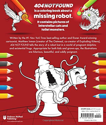 amazoncom 404 not found a coloring book by the oatmeal 9781449480479 the oatmeal matthew inman books - Coloring Book Creator