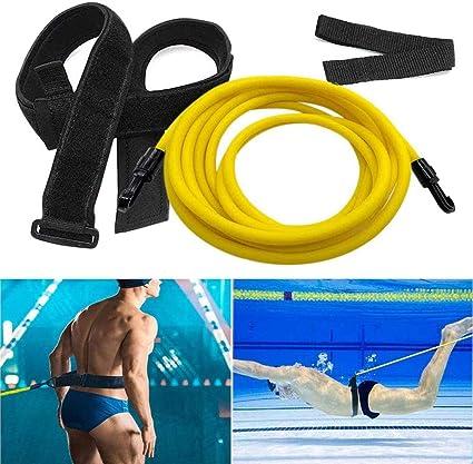Swim Bungee Training Harness Belt 3M Swimming Resistance Leash Exerciser Tether