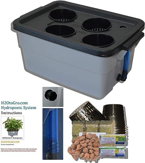 Bubble Grow BUCKET 4 Hydroponic System DWC Bubbleponic Plant Growing Kit Bubbler