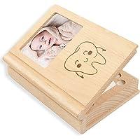 Caja de dientes para bebés, caja de madera