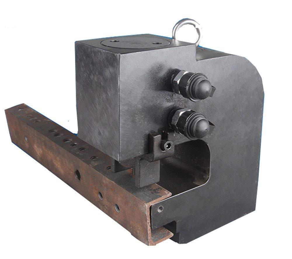 CGOLDENWALL 30t φ10.5~20.5㎜ダブルホール油圧アングルパンチャー 溝形鋼両面 三面 油圧パンチ CP-700Sデュアルサーキット手動油圧ポンプ付 B0753W7C21 CH-80+CP-700S