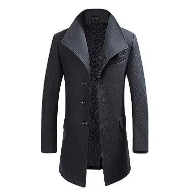 livraison gratuite chaussures pour pas cher rechercher le meilleur YOUTHUP Manteau Homme Hiver Trench-Coat Chaud Slim Fit Casual Long en Laine  Caban Mode Classique