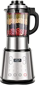 Blender 800W Professional Countertop Blender Smoothie Maker with BPA Free Container, High Speed Power Blender Built-in Timer for Crusing Ice, Frozen Desser,Silver