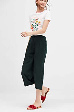Blue age wide Trousers for Womenfeminine look.