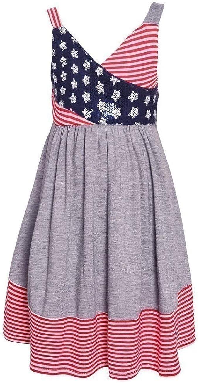 Amazon.com: Bonnie Jean - Vestido de 4 de julio para niña ...