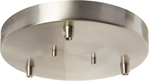 Sea Gull Lighting 7449403-962 Towner Three-Light Cluster Canopy Hanging Modern Light Fixture, Brushed Nickel Finish