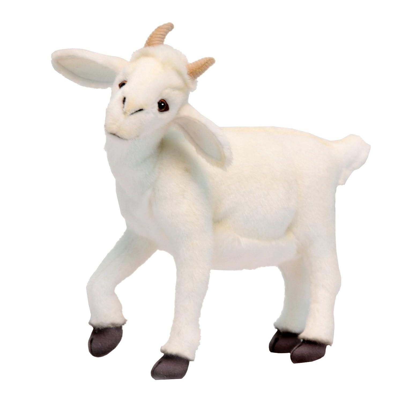 Amazon Com Hansa White Baby Goat 14 5 Plush Toys Games