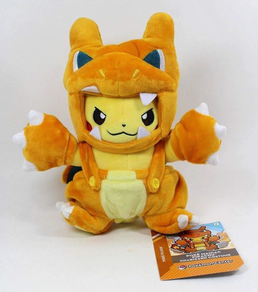 D-Khaleesi Charizard Pikachu Figure Animal Toys Plush Doll 8 inches Collectable Xmas Gift by D-Khaleesi
