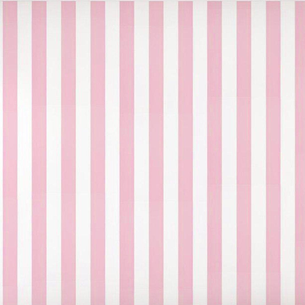 Baby Nursery Roomキッズ用ガールズ部屋ピンクホワイトストライプ壁紙ロール20.8インチx 33フィート B077P4BFSZ