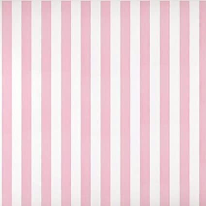 Baby Nursery Room Kids Girls Room Pink White Striped Wallpaper (Unpasted) Roll 20.8 inch x 32.8 Feet, 1 Roll Pack - - Amazon.com