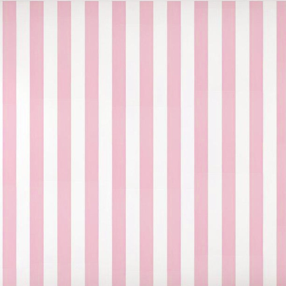 Baby Nursery Room Kids Girls Room Pink White Striped Wallpaper (Unpasted) Roll 20.8 inch x 32.8 Feet, 1 Roll Pack