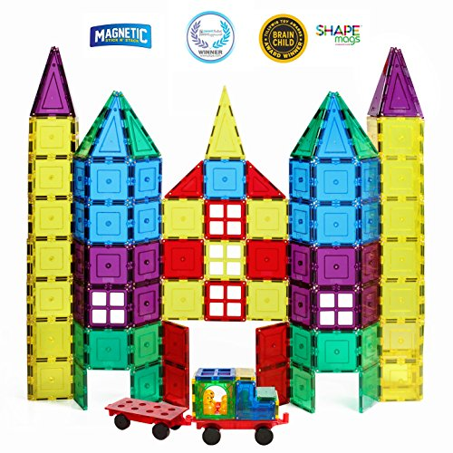 Magnetic Stick N Stack Magnetic Tiles 100 Piece Set
