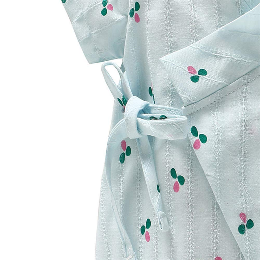 Mameluco Infantil reci/én Nacido beb/é ni/ño ni/ña t/única Hilado Floral Kimono para beb/és Ropa de Bebe ni/ña Ni/ño Mameluco Manga Cortas de Verano reci/én Nacido 0-12 Meses Verano Pijamas Bebe ni/&nt