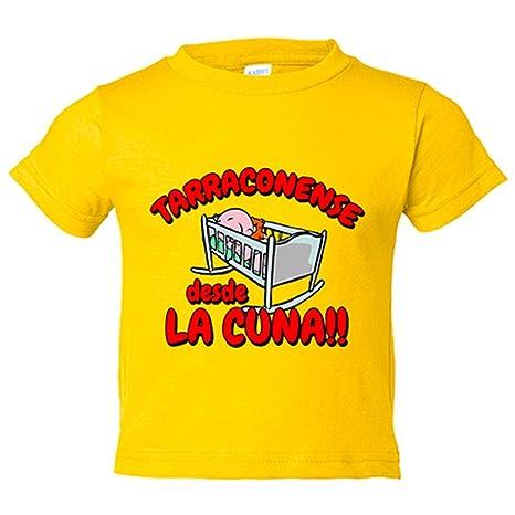 Camiseta niño Tarragonense desde la cuna Tarragoní Tarragona Nastic fútbol - Amarillo, 3-4