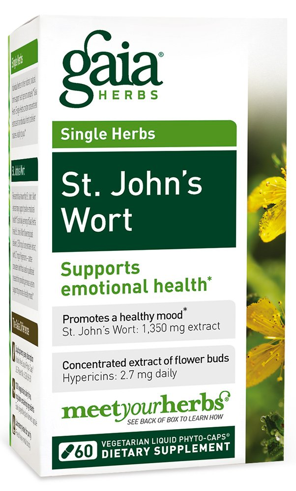 Gaia Herbs St. John's Wort, Vegan Liquid Capsules, 60 Count - Mood Support Supplement to Promote a Positive and Sunny Mood