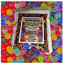 Water Beads, 8 OZ pack (Almost 20000 !!) Sooper Beads Crystal Water Gel Bead [Rainbow Mix] Used For Kids Tactile Toys - SensoryToys, Orbeez refill, Vase Filler, Soil, Plant decoration, Bamboo Plants