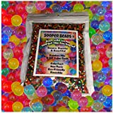 Water Beads, 8 OZ pack (Almost 20000 !!) Sooper Beads Crystal Water Gel Bead [Rainbow Mix] Used For Kids Tactile...
