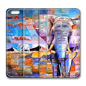 Animal Unique Design of the Elephant DIY Leather iphone 6 plus Case Perfect By Custom Service