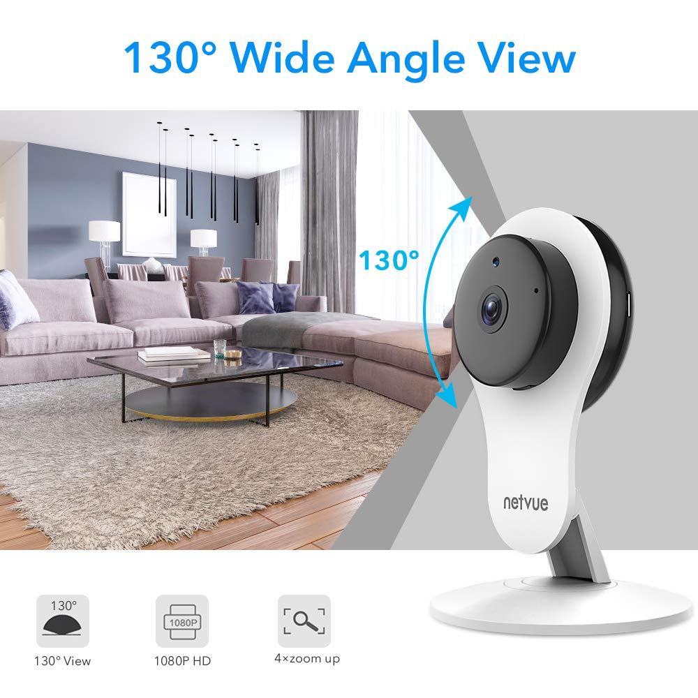 Security Camera – 1080P NETVUE Indoor Home Camera 2 Way Audio and Night Vision, Motion Detection, Compatible with Alexa Echo Show, Pet Monitor, Baby Camera with Cloud Storage