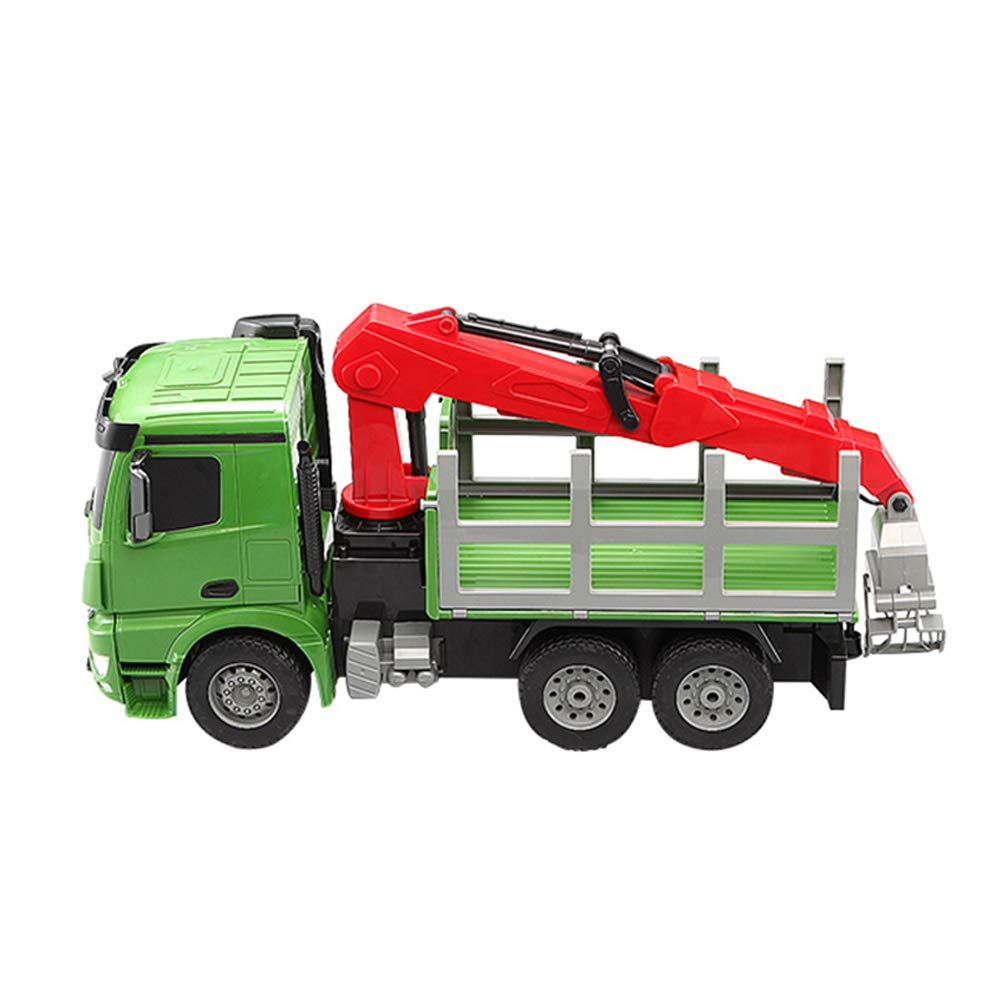 RC cami/ón gr/úa Juguetes 2.4G Escala Modelo de Coche Control Remoto Recargable Coche El/éctrico Gr/úa Tractor con Luces y Sonido M/áquinas de Construcci/ón Juguete Gr/úa