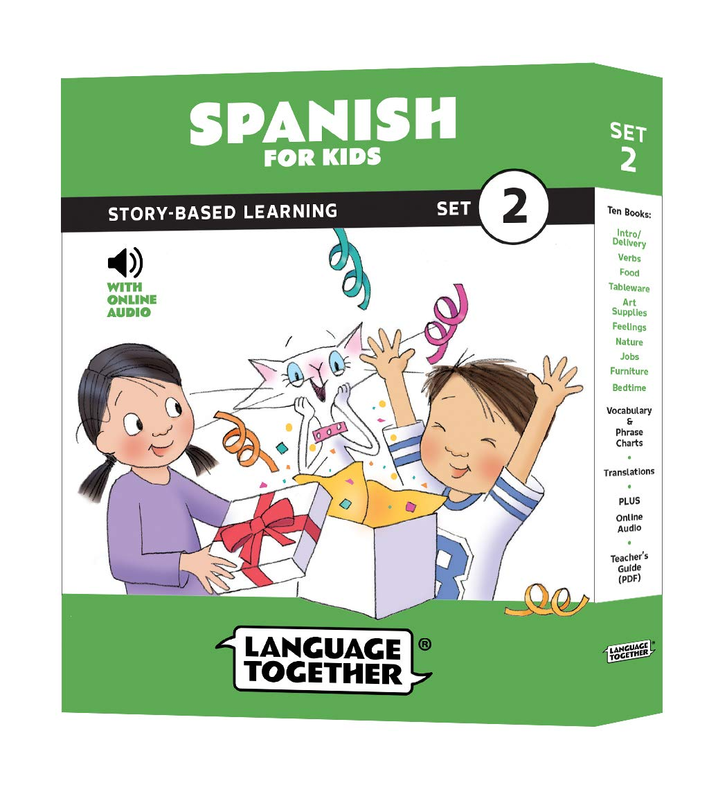 Spanish for Kids: 10 Early Beginner Reader Books with Online