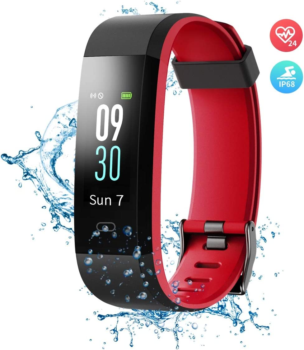 Wonbo Fitness Tracker with Heart Rate Monitor,Color Screen Activity Tracker Smartwatch with Sleep Monitor,14 Sports Mode,Calories Counter,Pedometer,IP68 Waterproof Smart Bracelet for Women Men Kids