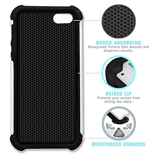 STPlus Gato en una caja Animal Doble Capa de Protección Rígido + Flexible Silicona Carcasa Funda Para Apple iPhone SE / 5 / 5S #23