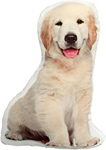 KT Yellow Lab Labrador Retriever Puppy Stuffed Dog Throw Pillow Decor Gift