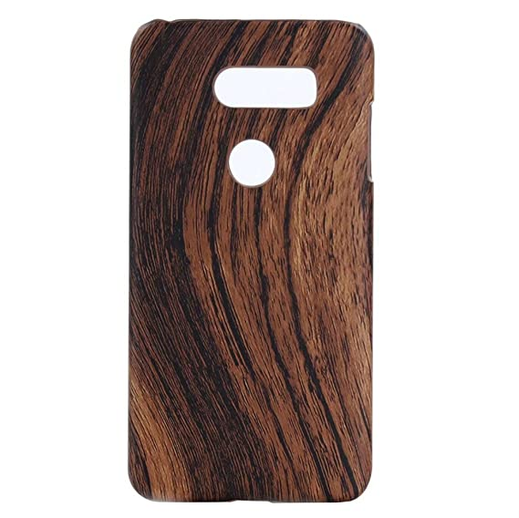 new arrival c093e 34b7b LG V30 Case,Fusicase Ultra Thin Hard PC Wooden Pattern Wood Paint PU  Leather Lagging Slim Case For Google LG V30