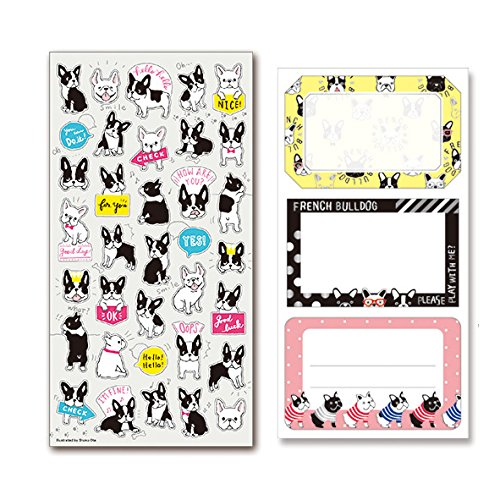 French Bulldog Sticker set Kawaii Dogs for paper craft and agenda or decoration
