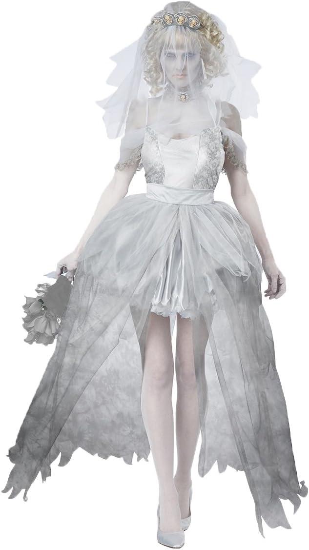 De disfraces Aimerfeel-señoras fantasma novia con velo, el vestido ...